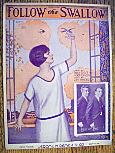 Sheet Music For 1924 Follow The Swallow (Image1)