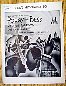 Sheet Music-1935 It Ain't Necessarily So-porgy & Bess