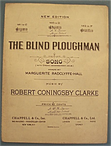 Sheet Music For 1913 The Blind Ploughman Song