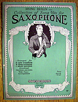 Sheet Music Booklet For 1929 Song Hits For Saxophone