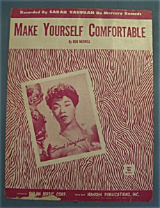 Sheet Music For 1954 Make Yourself Comfortable