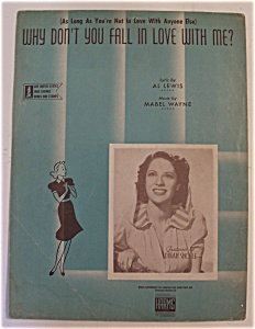 1942 Why Don't You Fall In Love With Me (Dinah Shore)