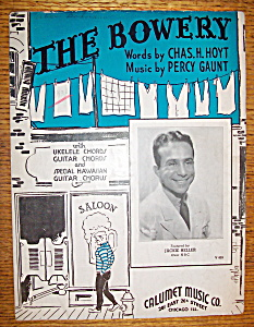 Sheet Music For 1935 The Bowery