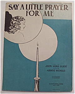 Sheet Music For 1930 Say A Little Prayer For Me