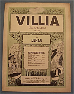Sheet Music For 1939 Villia (From The Merry Widow)