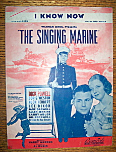 Sheet Music For 1937 I Know Now