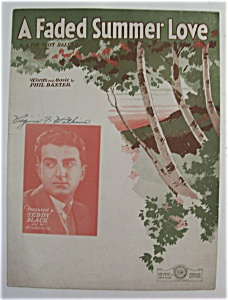 Sheet Music For 1931 A Faded Summer Love-phil Baxter