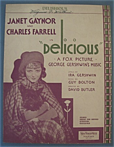 Sheet Music For 1931 Delishious