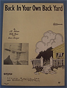 Sheet Music For 1928 Back In Your Own Back Yard
