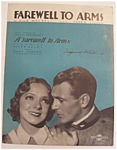 Sheet Music For 1933 Farewell To Arms