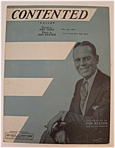 Sheet Music For 1932 Contented