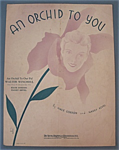 Sheet Music For 1933 An Orchid To You