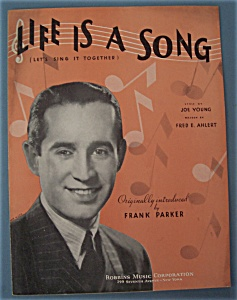 Sheet Music For 1935 Life Is A Song