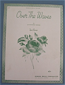 Sheet Music For 1934 Over The Waves