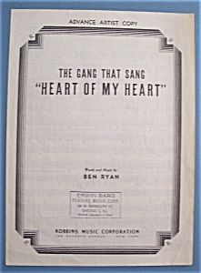 Sheet Music For 1946 Heart Of My Heart