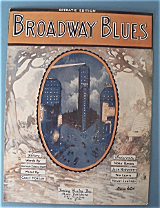 Sheet Music For 1920 Broadway Blues