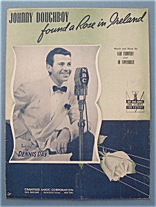 Sheet Music For 1942 Johnny Doughboy Found A Rose