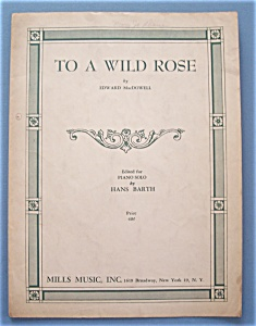 Sheet Music For 1953 To A Wild Rose