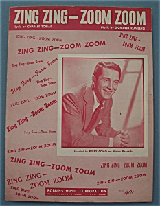 Sheet Music For 1950 Zing Zing - Zoom Zoom