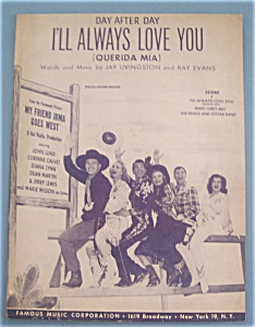 Sheet Music For 1950 I'll Always Love You