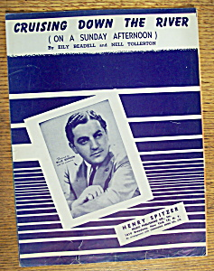 Sheet Music Of 1945 Cruising Down The River-blue Barron