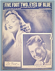 Sheet Music For 1949 Five Foot Two, Eyes Of Blue