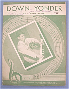 Sheet Music For 1948 Down Yonder (Joe Carr Cover)