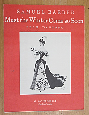 1958 Must The Winter Come So Soon Sheet Music (Image1)