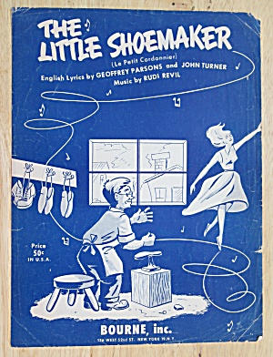 Sheet Music For 1954 The Little Shoemaker