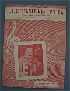 Sheet Music For 1957 Liechtensteiner Polka