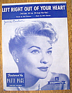 Sheet Music For 1958 Left Right Out Of Your Heart