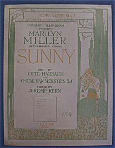 Sheet Music For 1925 D'ye Love Me?
