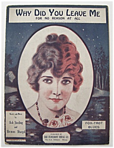 Sheet Music For 1923 Why Did You Leave Me