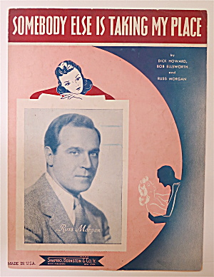 Sheet Music For 1937 Somebody Else Is Taking My Place