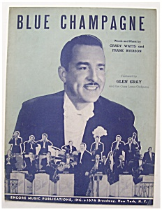 Sheet Music For 1941 Blue Champagne