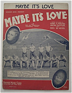 Sheet Music For 1930 Maybe It's Love