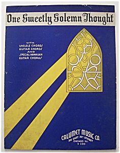 Sheet Music For 1935 One Sweetly Solemn Thought