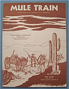 Sheet Music For 1949 Mule Train