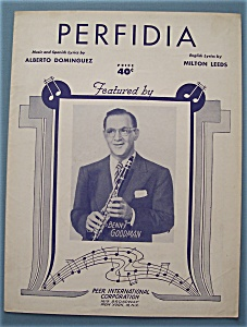 Sheet Music For 1941 Perfidia