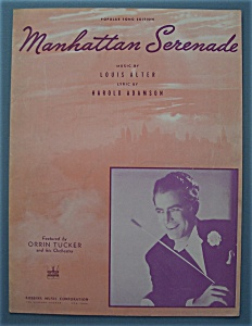 Sheet Music For 1942 Manhattan Serenade