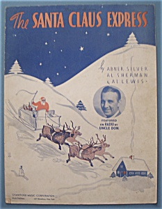 Sheet Music For 1935 The Santa Claus Express