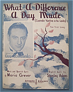 Sheet Music For 1934 What A Difference A Day Made