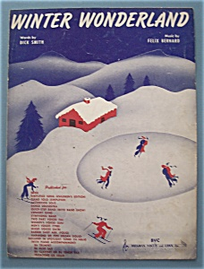 Sheet Music For 1934 Winter Wonderloand