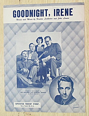 Sheet Music For 1950 Goodnight, Irene