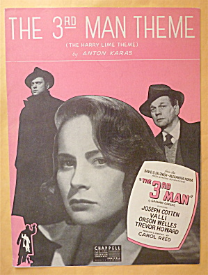 Sheet Music For 1949 The 3rd Man Theme