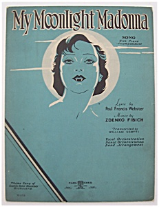 Sheet Music For 1933 My Moonlight Madonna