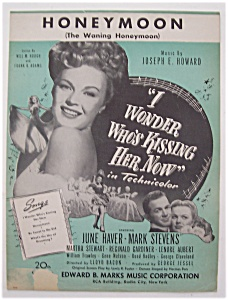 Sheet Music For 1938 Honeymoon