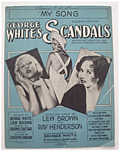 Sheet Music For 1931 My Song