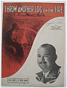 Sheet Music For 1933 Throw Another Log On The Fire