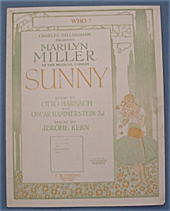 Sheet Music For 1925 Who?